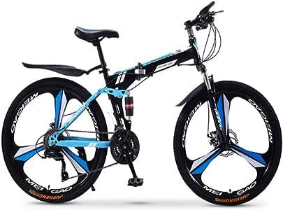 XWDQ Bicicleta De Montaña Plegable Bicicleta 21/24/27/30 Velocidad ...