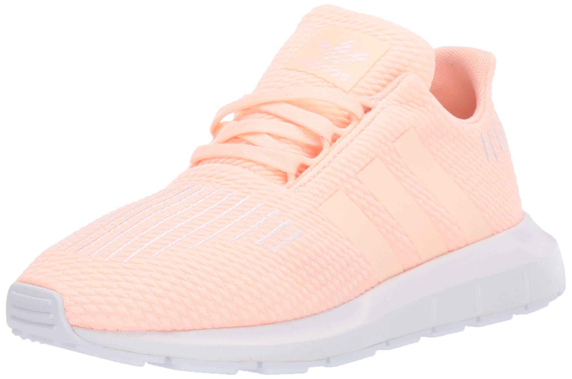 adidas Originals Baby Swift Running Shoe, Clear Orange/Weiss-Schwarz/White, 4K M US Toddler