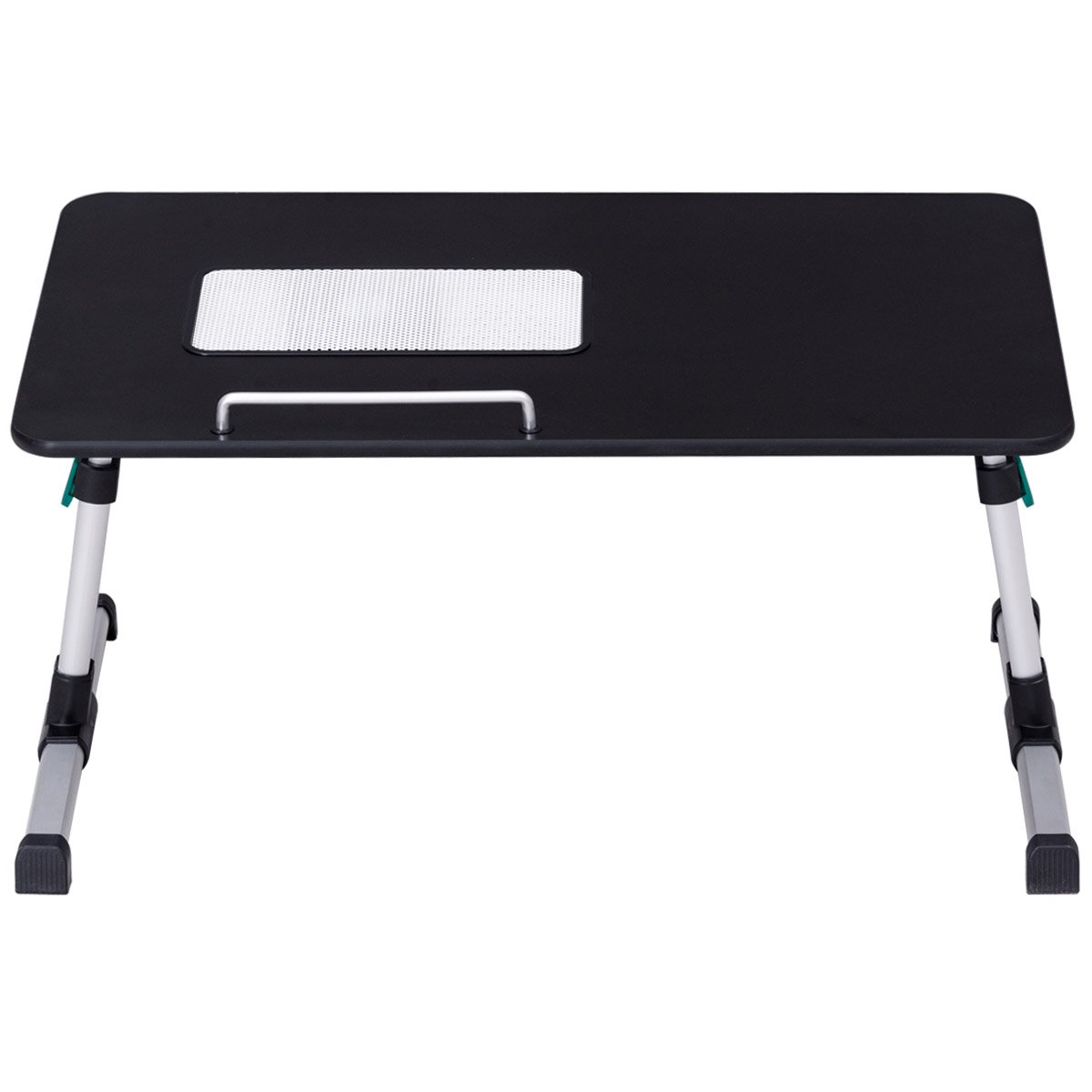 Tangkula Portable Laptop Desk Height Angle Adjustable Foldable Notebook Table with Cooling Fan (Black)