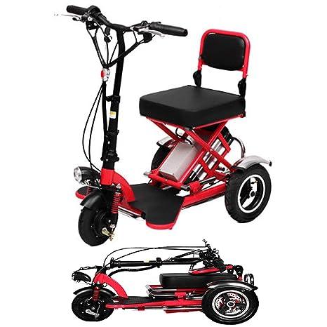 Triciclo Eléctrico Plegable Scooter Eléctrico Batería De ...