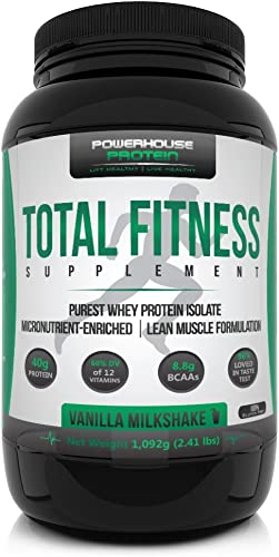 Total Fitness Supplement Vanilla Milkshake Flavor 2.4 lbs