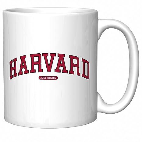 Amazon.com: Taza de café Harvard (Just Kidding): Kitchen ...