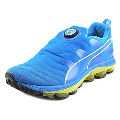 8a10c3829e39 Puma Mens Voltage Disc Running Shoes Puma Electric Blue Lemonade-Safety  Yellow Size 7