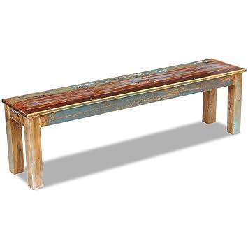 Outstanding Festnight Reclaimed Wood Bench Handmade Dining Bench Home Garden Furniture For Both Indoor Outdoor Use 63 X 13 8 X 18 1 Short Links Chair Design For Home Short Linksinfo