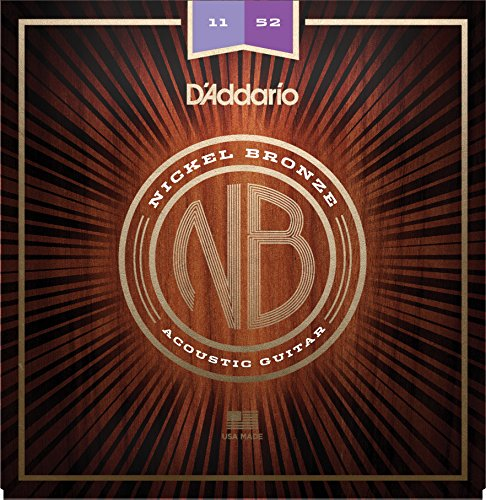 Daddario Custom Light - D'Addario NB1152 Nickel Bronze Acoustic Guitar Strings, Custom Light