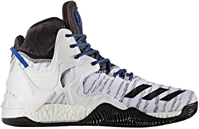 buy popular e50e4 e7bfe adidas Performance Men s D Rose 7 Primeknit Basketball Shoe, White  Black Scarlet,