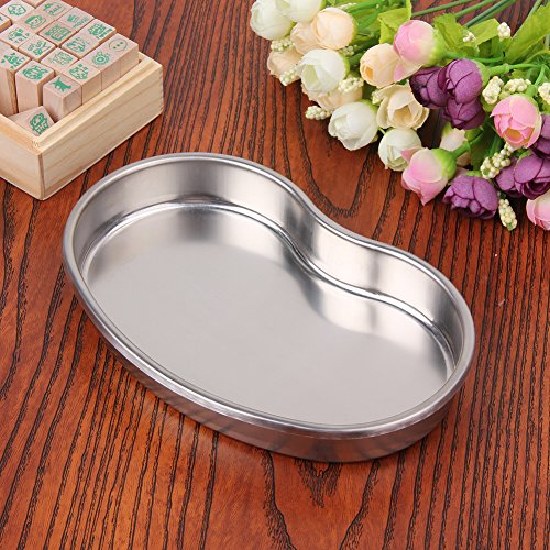 - Dental Stainless Steel Medical Tools Storage Tray Dish Nail Tattoo Medical Device Supplies Storage Case Kitchen Tools