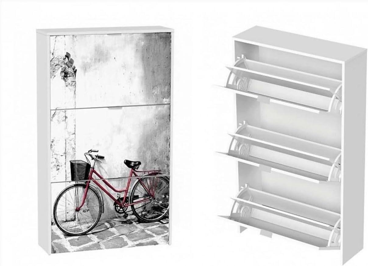 LIQUIDATODO ® - Zapatero moderno y barato 3 trampones blanco/bicicleta dos: Amazon.es: Hogar
