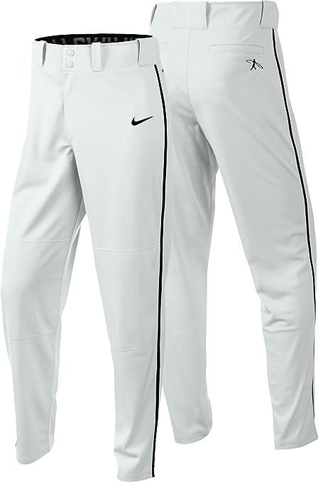 Nike Men's Swingman Dri FIT Piped Baseball Pants (White
