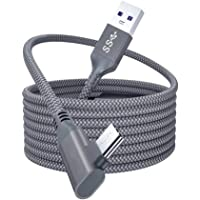 UKCOCO Oculus Link ile uyumlu VR kablo - 90 derece açılı USB C - C güç kablosu 16 ft C tipi kablo Oculus Quest 2 ile…