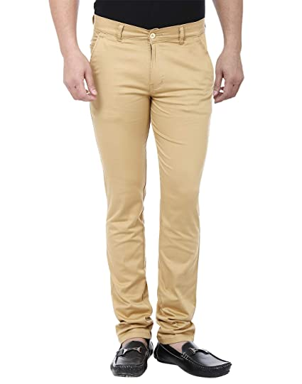 704e56e64f7 Magic Attitude Men s Semi Formal Trouser Chino Beige 36  Amazon.in ...