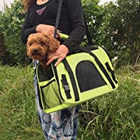 SaveOnMany Dog Cat Travel Carrier Outdoor Tote with Lockable Zipper Buckle For Pets Comfort Airline Approved Travel Soft Side Bag