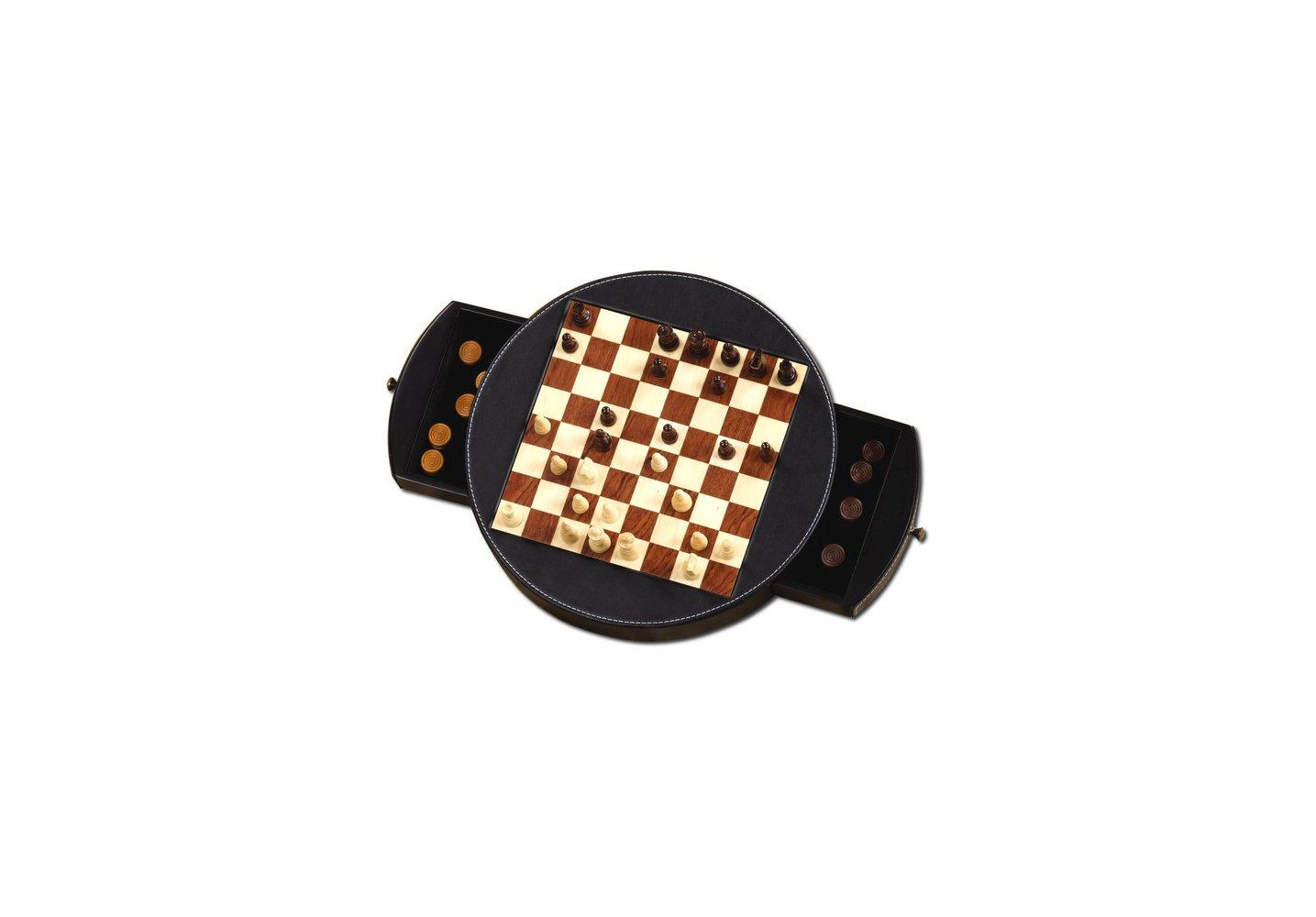 Dal Negro 02096–Jeu d'échecs et dames (30cm, de peau) [Import Italien]