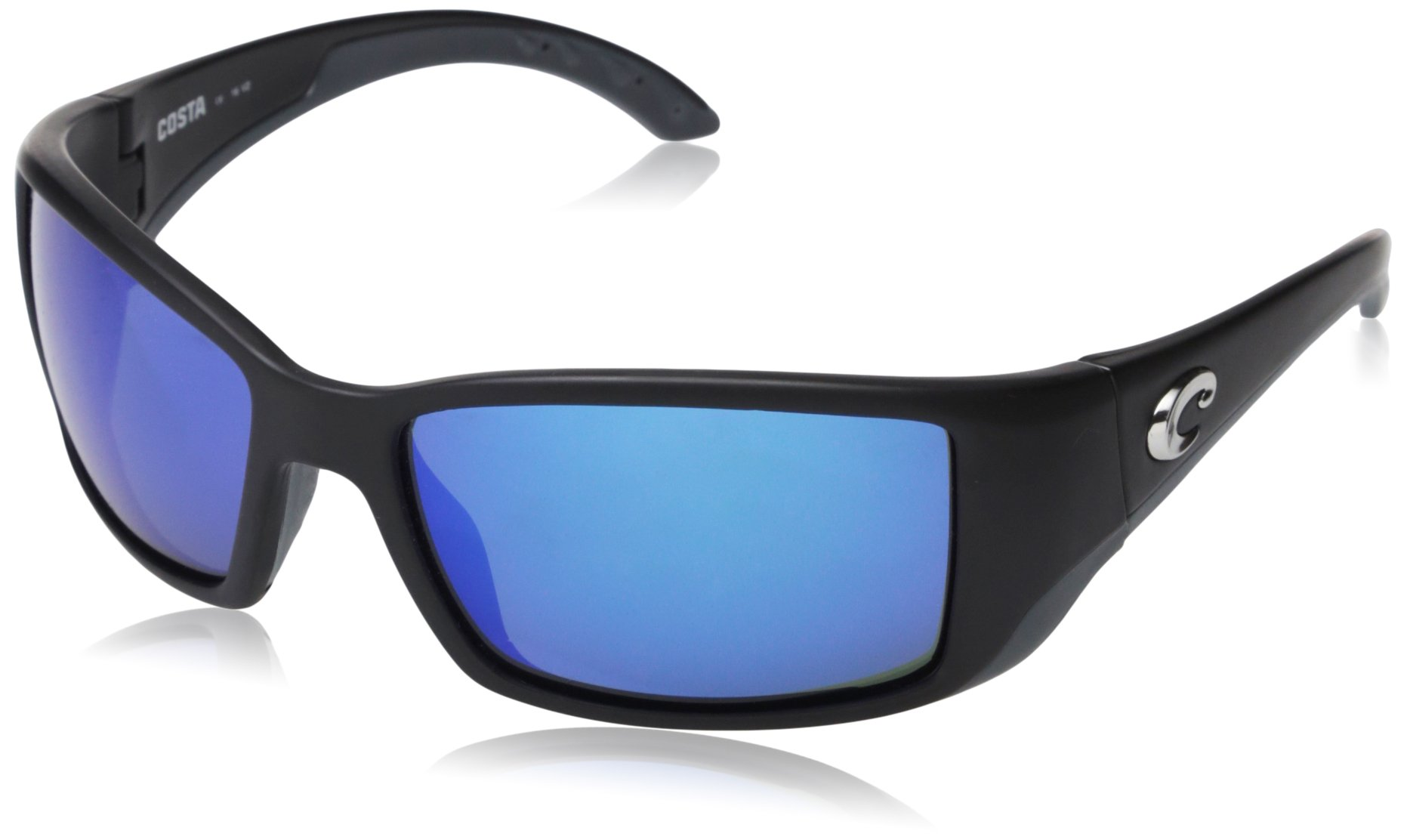 Costa del Mar Unisex-Adult Blackfin BL 11 OBMGLP Polarized Iridium Wrap Sunglasses, Matte Black, 61.5 mm by Costa Del Mar