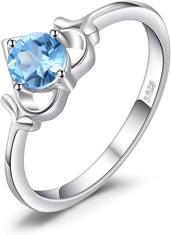 JewelryPalace Anillo Declaración Con gemas multiples Piedra Preciosa Plata de ley 925