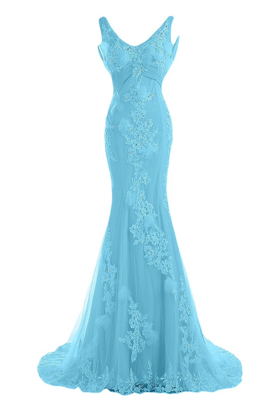 Sunvary Designer Wedding Party Dress Evening Gown V-neck Mermaid ...