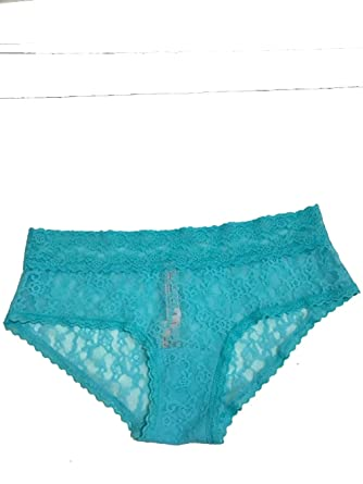 50a2a19c3d Image Unavailable. Image not available for. Color  Victoria s Secret  Allover Lace Cheeky Panty Medium Seafoam Blue