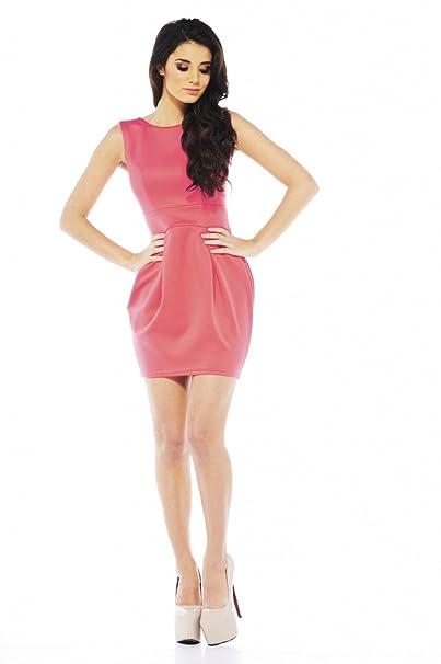 295d05faa6 AX Paris Balloon Skirt Scuba Dress(Coral