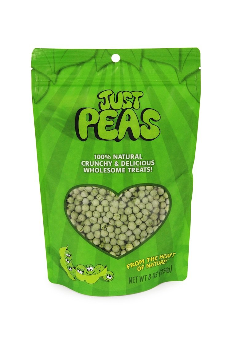 Karen's Naturals Just Tomatoes, Just Peas (8-Ounce) Large Pouch (Pack of 2) (Packaging May Vary)