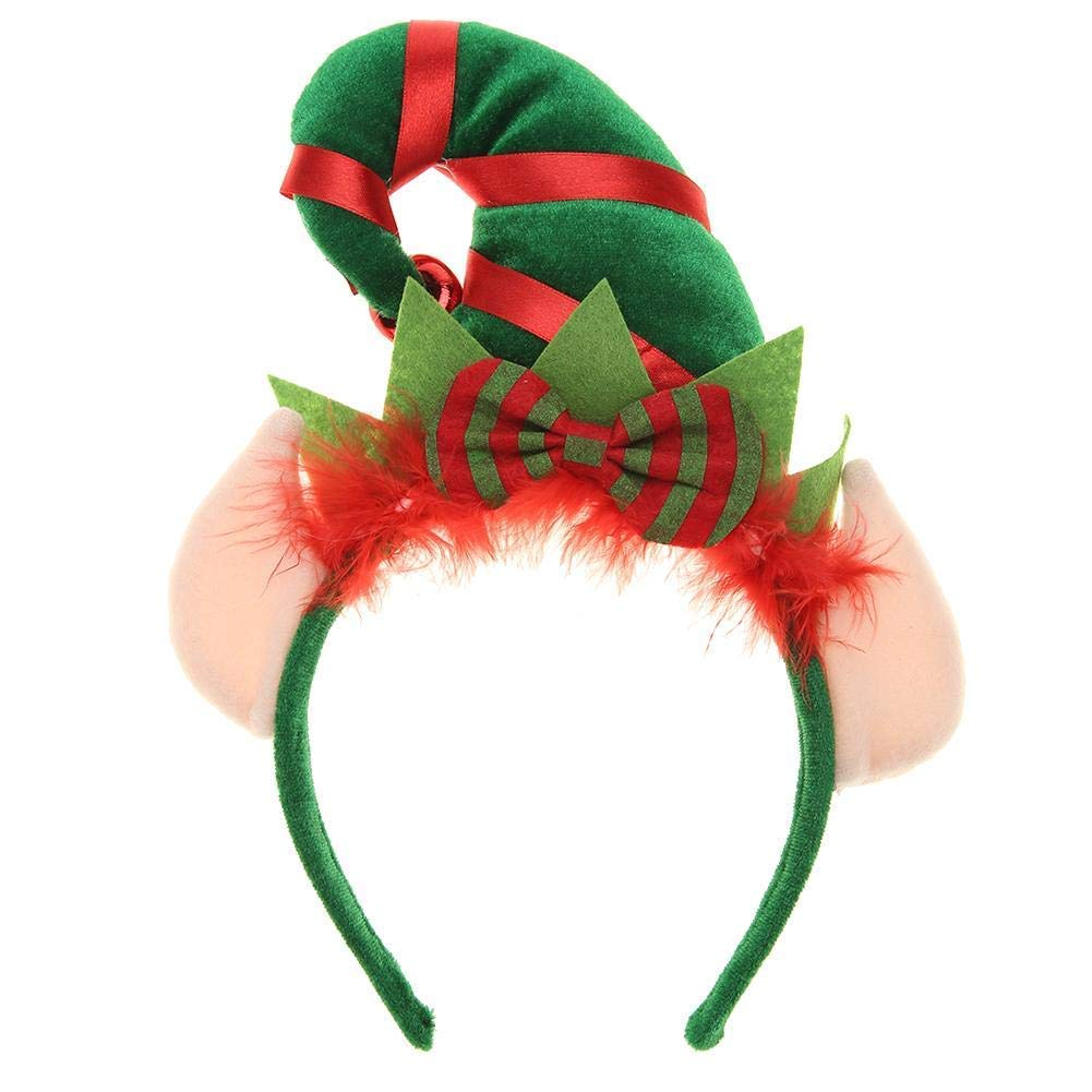 Funky Elf Headband with ears Christmas party festive fun 45321