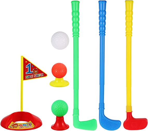 LIOOBO Plastic Golfer Toy Toddler Golf Game Toy Set for Kids Children(Color Randomization)