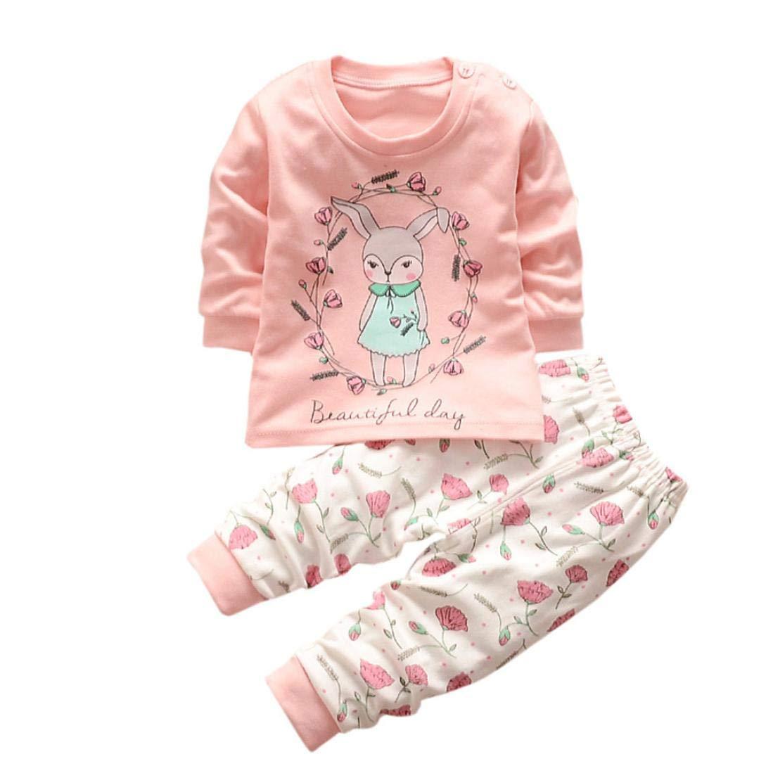 CIELLTE Bébé Ensemble de Vêtements Filles Garçons Combinaisons Manches Longues Barboteuse Jumpsuit Automne Hiver Cartoon Petite Fille Mignon Chemise Pantalons