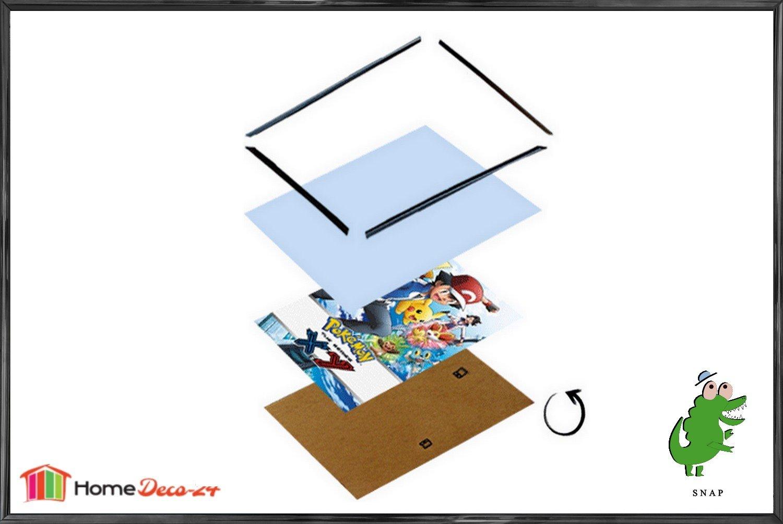 ( 3 Stck.) Schnappy Kunststoff Klemmleisten Bilderrahmen 61x91,5 cm 91,5x61 cm Schwarz hochglanz mit klarem Acrylglas Mengenpaket  Stückpreis nur 14,84 €
