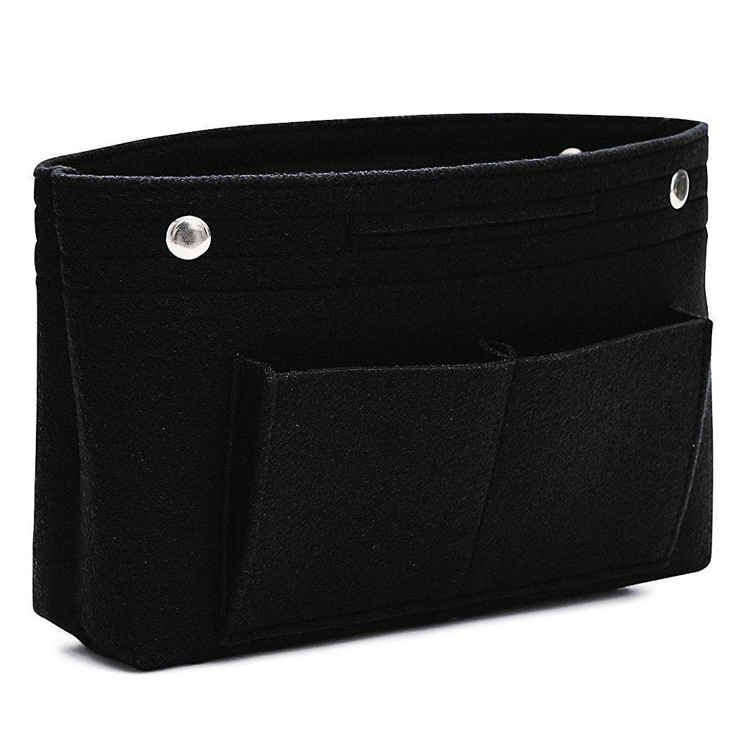 VANCORE Felt Insert Handbag Organizer Travel Purse Bag Organiser Black Large