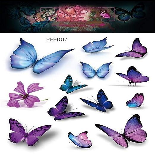 adgkitb Pegatinas de Tatuaje de Mariposa tridimensionales Sueño de ...