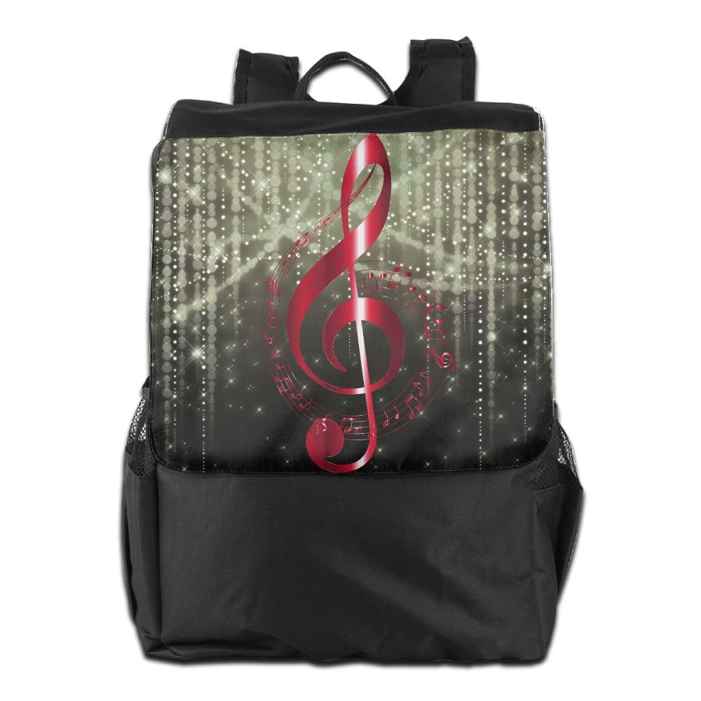 00772320d750 80%OFF Believe Ddspp Red Music Notes Outdoor Backpack Rucksack Laptop Bag