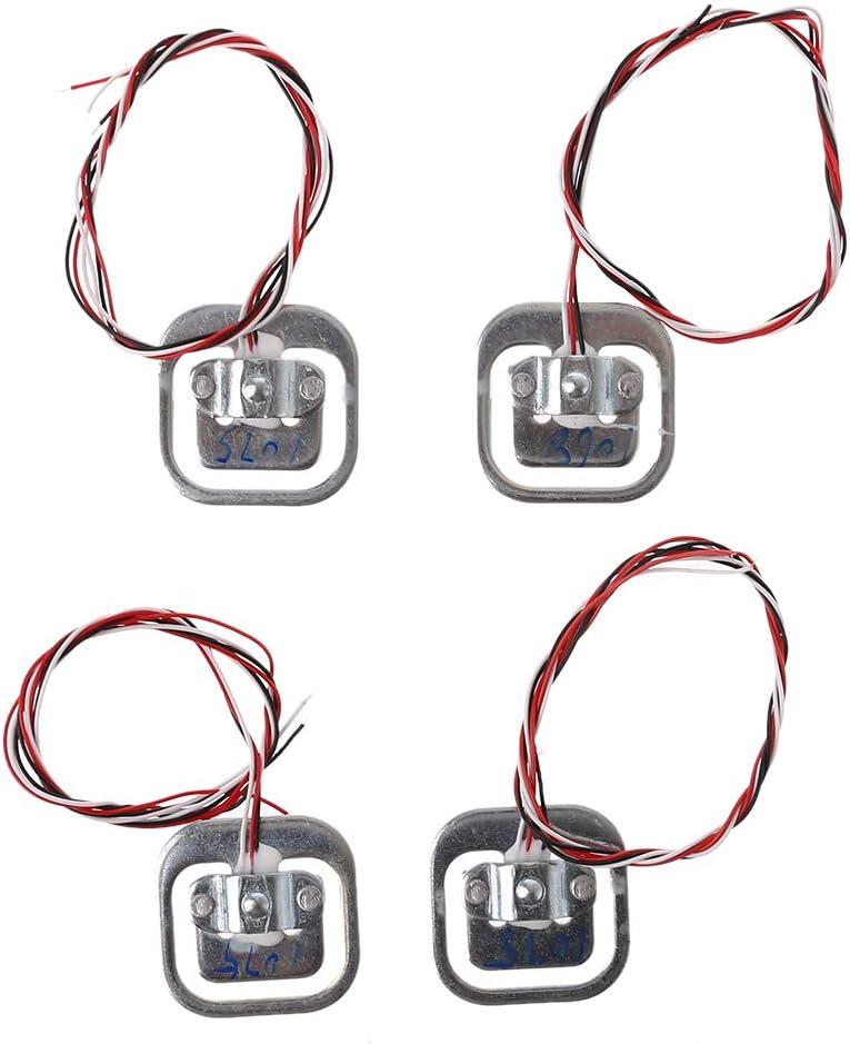 LANDUM 4 st/ücke 50 kg Menschlichen Waage W/ägezellen /& HX711 AD Modul Kit Widerstand Dehnung Gewicht Sensor Messwerkzeuge