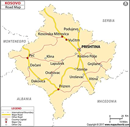 Image result for Kosovo Map