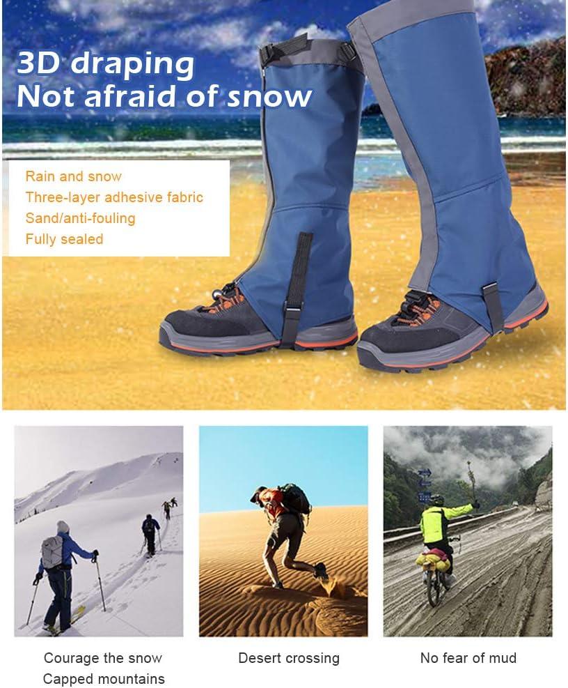 Kenyaw Outdoor Wasserdicht Gamaschen Gaiters Outdoor-Hosen zum Wandern Klettern Schneewandern Wandernde Gehende Kletternde Jagd-Schnee Legging Gamaschen Orange//L