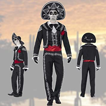 Dia de los Muertos costume Day of the dead outfit man S (size 34 - : dead mariachi costume  - Germanpascual.Com
