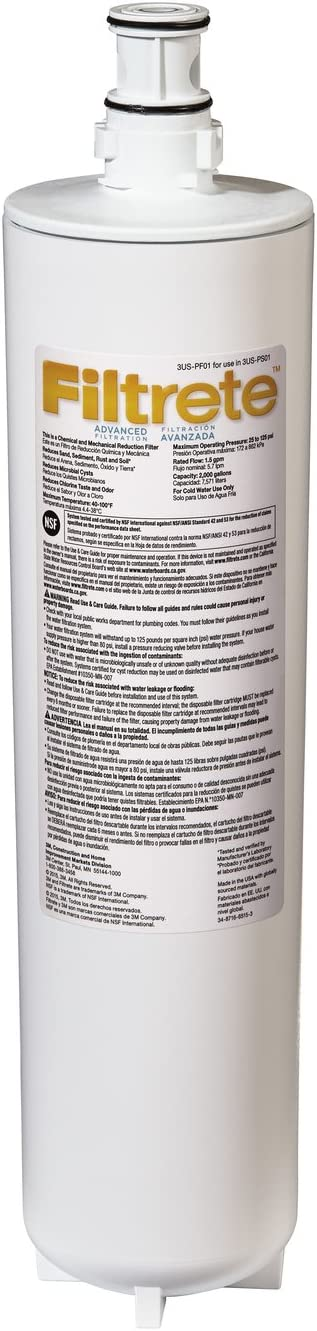 Filtrete Advanced Water Filtration Replacement Filter (3US-PF01) - Replacement Pitcher Water Filters -