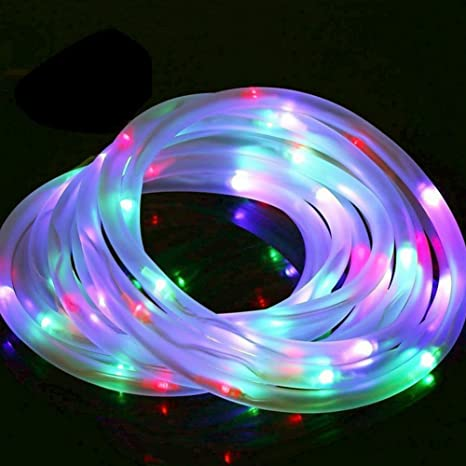 Amazon rope light led color changing solar powered outdoor rope light led color changing solar powered outdoor waterproof 10m tube lights for yard garden aloadofball Image collections