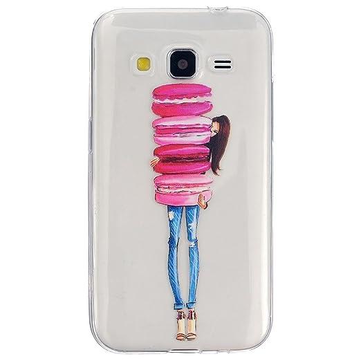 2 opinioni per HUANGTAOLI Custodia in Silicone TPU Case Cover per Samsung Galaxy Core Prime 4G