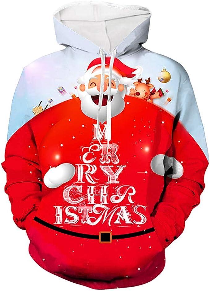 ZFQQ Suéter navideño Jersey navideño Jersey de impresión 3D ...