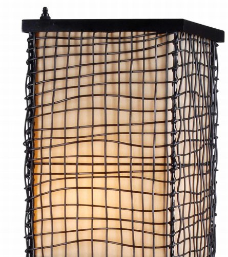 Transitional Outdoor Floor Lamp - Kenroy Home 32250BRZ Trellis Outdoor Floor Lamp, Bronze Finish, 51