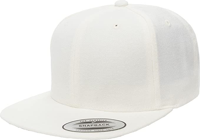 53b6dae3f22 6089M Classic Snapback Pro-Style Wool Cap by Flexfit - One Size (White)