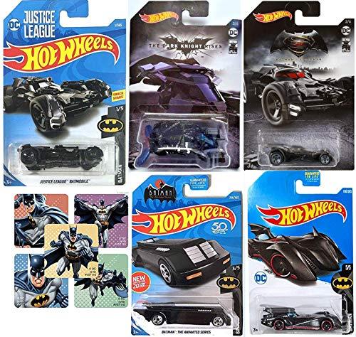 1st Edition Justice League Batmobile Bundled with dc Batman 1:64 Die-cast Cars Bundled The Bat / Batman V Superman + Animated Series & Brave Bold