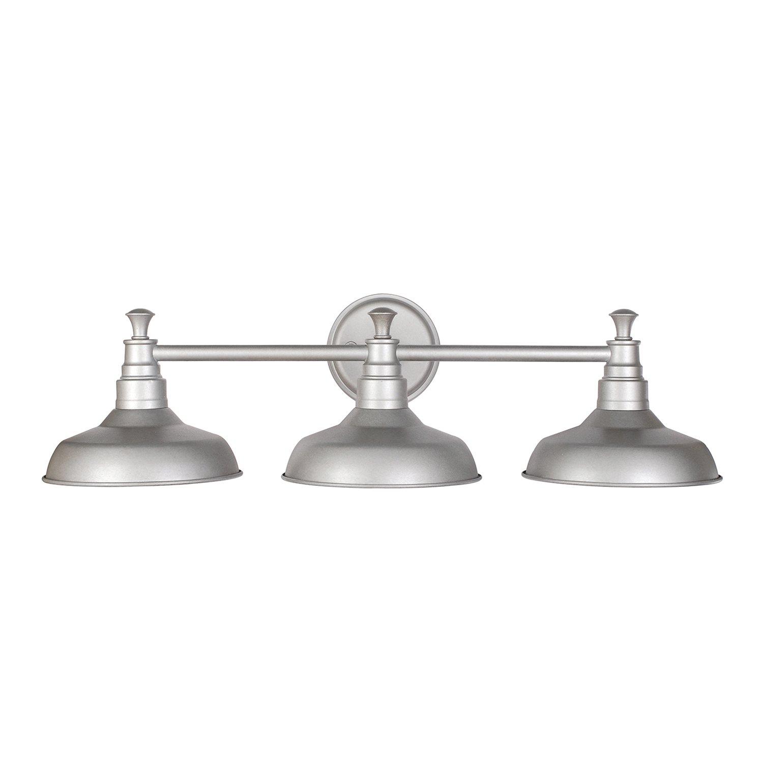 Bathroom vanity lights brushed nickel - Design House 520312 Kimball 3 Light Vanity Light Galvanized