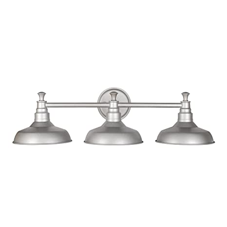 Amazon design house 520312 kimball 3 light vanity light amazon design house 520312 kimball 3 light vanity light galvanized steel finish home improvement aloadofball Gallery