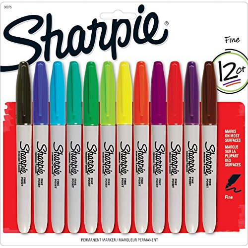 sharpie-permanent-markers-fine-point-assorted-colors-12-count