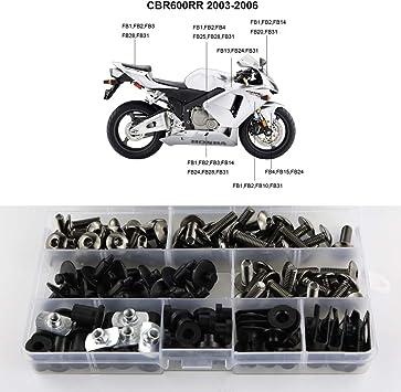 Xitomer Complete Fairing Bolts Full Set Bodywork Screws//Fastenings//Mounting Kits Silver for Honda CBR1000RR 2004 2005