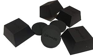 IsoBlock Silicone Isolation Feet (4 Pack, Soft 60lb Capacity)