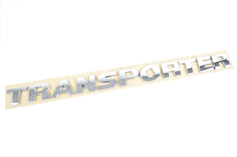 7E0853687 I Original TRANSPORTER Schriftzug Emblem Logo selbstklebend silber Auto Autoteile