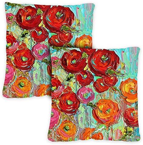 Toland Home Garden 721216 Fabulous Flowers 18 x 18 Inch Indoor/Outdoor