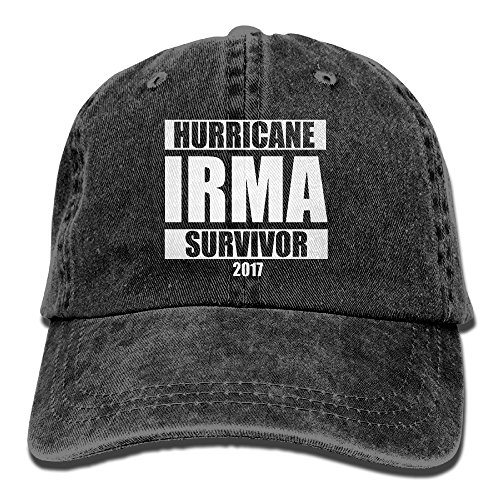 Hurricane Irma Survivor Unisex Adjustable Cotton Denim Hat Washed Retro Gym Hat FS&DMhcap Cap (Miami Costume Stores)