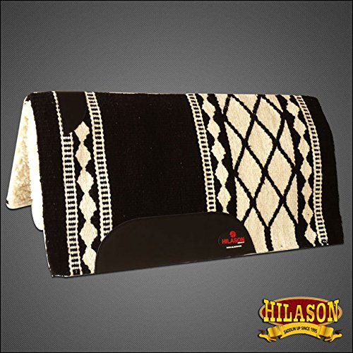 HILASON Made in USA Western Wool Gel Saddle Blanket Pad